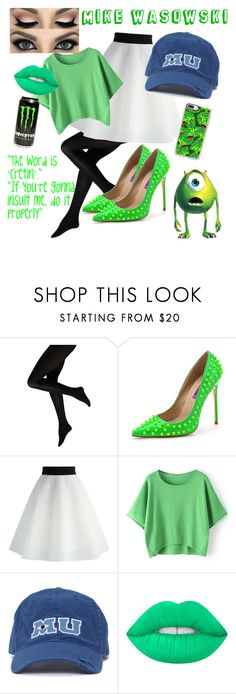 """""""Mike Wasowski"""" by slytherinprincess-2 ❤ liked on Polyvore featuring Chicwish, Disney, Lime Crime and Casetify"""