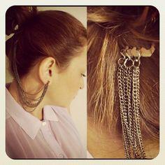 Dos accesorios en uno. Ear cuff y peineta. Encuentra el tutorial en: www.erikatipoweb.com