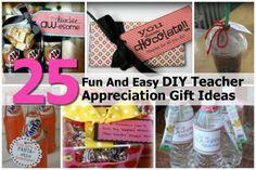 25 Fun And Easy DIY Teacher Appreciation Gift Ideas