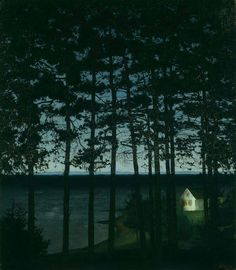 Harald Sohlberg, Fisherman's Cottage, Norway, 1906