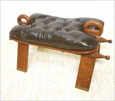 Chair 【ラクダ鞍スツール(象嵌)】アンティークスペイン木製椅子 インテリア 雑貨 家具 Antique ¥13500yen 〆06月13日