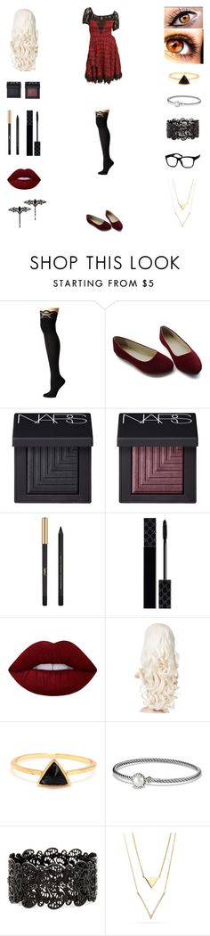 """Untitled #128"" by zero681 ❤ liked on Polyvore featuring M&F Western, NARS Cosmetics, Yves Saint Laurent, Gucci, Lime Crime and David Yurman"