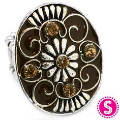 Silver & Brown Stretchy Band Ring #$5 #Paparazzi $5 Jewelry