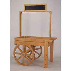 Wood Display Cart