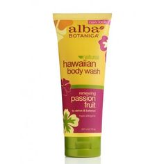 Alba Botanica Renewing Passion Fruit Hawaiian Body Wash, 7 Ounce Tubes (Pack of - code card Body Shampoo, Borage Oil, Essential Fatty Acids, Beauty Advice, Organic Beauty, Natural Beauty, Fruit Smoothies, Body Wash, Cleanser