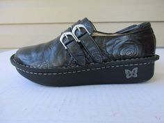Alegria women shoes size 38 / 7 Embossed Leather Black #Alegria #MaryJanes #Casual