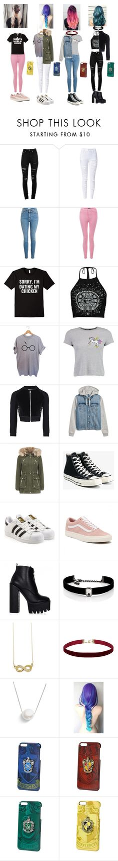 """""""Last years squad"""" by hannahscheepers ❤ liked on Polyvore featuring Yves Saint Laurent, WithChic, Boohoo, Converse, adidas, Vans, Kenneth Jay Lane and Chan Luu"""