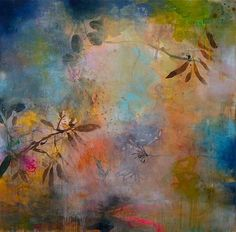 "Deedra Ludwig ""Dream of Wildness""; 2013; Oil and mixed media on canvas; 48"" x 48"""