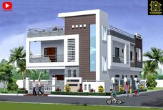 Best 30 Front Elevation designs For 2 Floor House House Outer Design, House Balcony Design, House Outside Design, Village House Design, Duplex House Design, House Front Design, Simple Bungalow House Designs, Bungalow Haus Design, Simple House Design