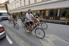 cycles through charming in Ride Along, Arnold Schwarzenegger, Biking, Austria, Cycling, Bicycle, Creative, Pictures, Graz