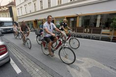 #ArnoldSchwarzenegger cycles through charming  #Graz in #Austria