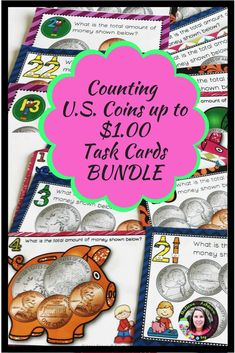 Money- Counting U. Coins up to a Dollar BUNDLE! - Real Time - Diet, Exercise, Fitness, Finance You for Healthy articles ideas Math Stations, Math Centers, Math Resources, Math Activities, Math Clipart, Math Groups, Recording Sheets, Guided Math, Graphic Organizers