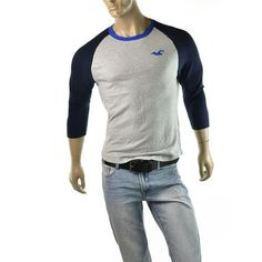 Mouse over image to zoom    Have one to sell? Sell it yourself  Mens #Hollister by Abercrombie 3/4 Sleeve Jersey Tee #Shirt  http://imagestudio714.com/sale/outlet/Hollister/hollister.php