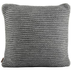"""UGG® Snow Creek Cushion Cover - 20"""" - Granite (1,780 MXN) ❤ liked on Polyvore featuring home, home decor, throw pillows, pillow, grey, gray home decor, gray accent pillows, inspirational throw pillows, grey accent pillows and grey throw pillows"""