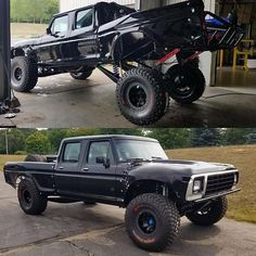 Check out this sweet center mount, linked, and caged #Ford #Prerunner!