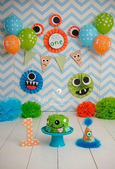 Little Monster Birthday Backdrop Little by SweetSisterCelebrate Little Monster Birthday, Monster 1st Birthdays, Monster Birthday Parties, First Birthday Parties, First Birthdays, 1st Birthday Themes, Baby 1st Birthday, Birthday Ideas, Cake Birthday