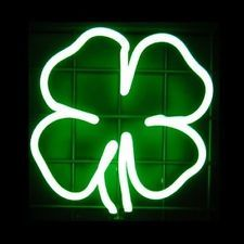 Irish Clover Neon Light Sculpture Bar Sign for Man Cave Pub Wall or Tabletop New