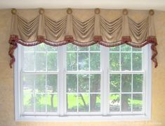 Kingston Valances Mounted On Medallions Can Also Be Installed A Rod Custom