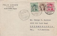 Egypt 1937 Cover Judaica Advertisement 'Felix Cohen' to Philadelphia USA | eBay