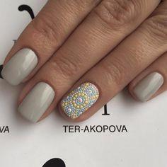 Autumn nails Beige nails Dotted nails Fall nails ideas Novelty of fall nails Polka dot nails Beige Nails, Pastel Nails, Toe Nail Designs, Fall Nail Designs, Nails Design, Hair And Nails, My Nails, Nails 2017, Polka Dot Nails