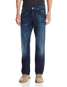 7 For All Mankind Men's Austyn Relaxed Straight Luxe Performance Jean This relaxed straight-leg is roomy through the hip and thigh and is constructed in our amazing innovative fabric, Luxe Performance. This fabric is the epitome of form and function – hitting the mark with an enduring fit and luxe feel. New advanced technology weaves a unique blend of high-stretch fibers to create this complete recovery fabric. This means your jeans retain the exact shape and feel, no
