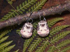 Hedgehog Earrings Hedgehogs Animal Jewelry Animal Totem Hedgehog Animal, Animal Totems, Beaded Choker, Animal Jewelry, Clay Beads, Hippie Boho, Sculpting, Polymer Clay, Miniatures