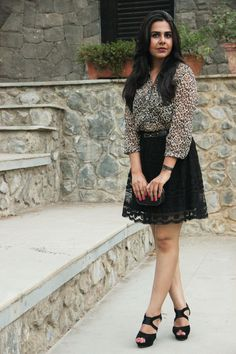 Feeling Fierce ?! Roar with a leopard print outfit. Mix textures with a lace skirt.  Have a look at the entire post on our blog
