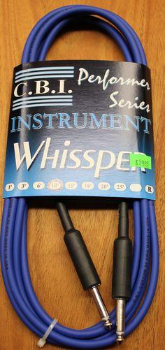 "C.B.I. Whissper Classic Double Heat Shrink 10' 1/4"" 22 Gauge Instrument Cable Blue"
