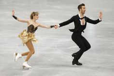 France's Gabriella Papadakis and Guillaume Cizeron compete in Ice Dance Short Dance at the European Figure Skating Championships in Budapest, Hungary, Wednesday, Jan. 15, 2014. (AP Photo/Darko Bandic)