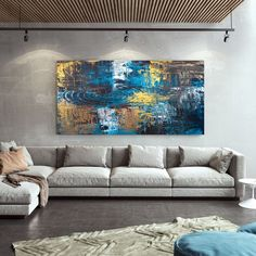 Oversized Wall Art Abstract Painting On Canvas Office image 9 Colorful Artwork, Colorful Paintings, Kids Room Paint, Oversized Wall Art, Canvas Art, Large Canvas, Bathroom Wall Art, Extra Large Wall Art, Office Wall Art