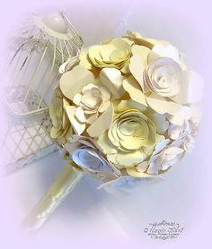 MagicArt / Kvety s vôňou vanilky Paper Flowers, Bouquet, Bouquets, Floral Arrangements, Nosegay