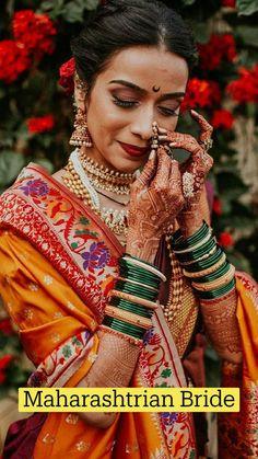 Indian Wedding Poses, Indian Wedding Photography Poses, Indian Bridal Outfits, Indian Bridal Fashion, Girl Photography Poses, Wedding Pictures, Couple Wedding Dress, Wedding Dresses For Girls, Marathi Bride