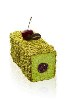 Cake pistache, création Laurent Moreno