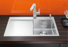 kitchen sinks from Germany's No. Blanco Sinks, Kitchen Sink, Nightingale, Kitchen Ideas, Home Decor, Recipes, Vessel Sink, Stainless Steel, Products