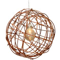 USA Woven Metal Sphere Chandelier    From a unique collection of antique and modern chandeliers and pendants  at http://www.1stdibs.com/lighting/chandeliers-pendant-lights/