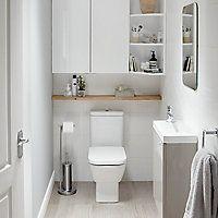 Decorez Et Amenagez Vos Toilettes Comme Une Vrai Piece En Optimisant Les Rangement Dans Cet Espace Reduit Castorama Salledebains Toilet Amenagement Toilettes