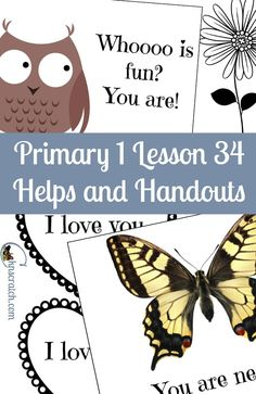 Very thankful for these LDS Primary 1 lesson helps! This one is Primary 1 Lesson…