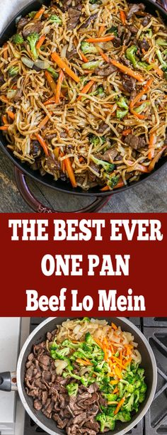 Seriously the best ever BEEF LO Mein, so much flavor. Easy to make, all in one pan. Our entire family loves it and yours will too! Seriously the best ever BEEF LO Mein, so much flavor. Easy to make, all in one pan. Beef Dishes, Pasta Dishes, Food Dishes, Main Dishes, Meat Dish, Healthy Meals, Easy Meals, Healthy Recipes, Easy Asian Recipes