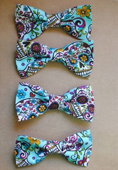 Super cute teal day of the dead skull design by JustWastingThyme, $8.00
