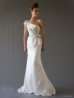 cocoe voci fall 2012 selena one shoulder wedding dress