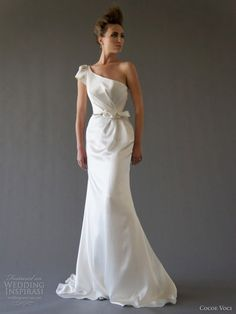 one shoulder #wedding #dress