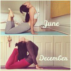 Practice makes Progress.  (Wendy J. Li) #yoga