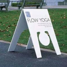 flow yoga sign