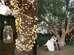 Southern Ca. Wedding #diy sweet lighting