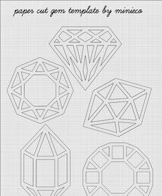 Paper cut diamonds! Yes.