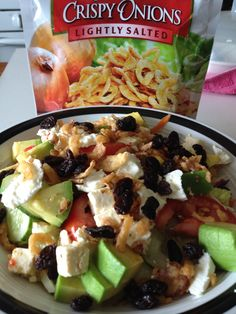 Salad with every thing you need .
