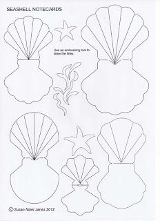 The Papercraft Post: Seashell Notecards