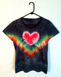 Tie Dye Shirt  Size L  Womens Tie Dye by RainbowEffectsTieDye, $13.00