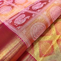 Pure kanjivaram handloom silk saree from our loom. Pure silk assured with silk mark hologram. For more designs please Watsapp or…