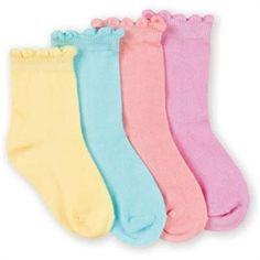 Jefferies Organic Cotton Scalloped Anklet Girls Socks - 1 Pair : Shop Kids Socks at KidsSocks.com